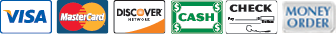 Visa, MasterCard, Discover, Cash, Check and Money Orders Accepted